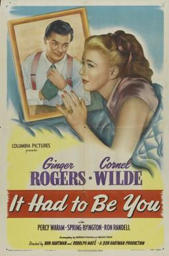 It Had to Be You (1947 film) - Image: It Had to Be You Film Poster