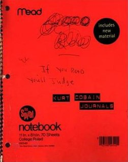 <i>Journals</i> (Cobain) 2002 collection of writings and drawings by Kurt Cobain