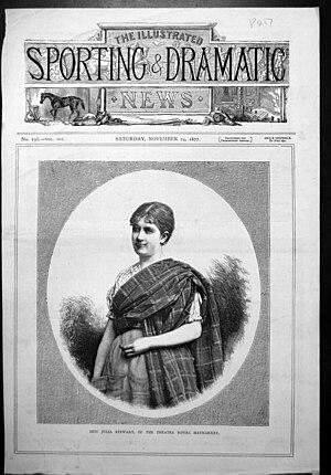 Julia Stewart (actress) - Julia Stewart  as Maggie in Engaged, 1877