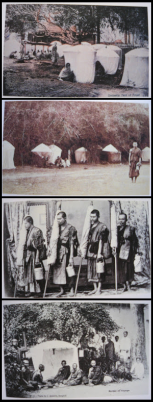 History of the Thai Forest Tradition - Postcards of monks on Dhutanga in the early 20th century
