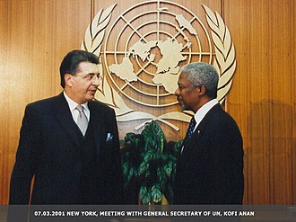 Srgjan Kerim - Srgjan Kerim with Kofi Annan