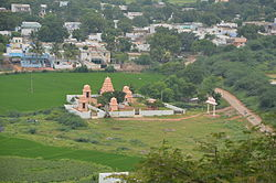 View of the Kodair village from the near by hilltop (Balapala Gutta)