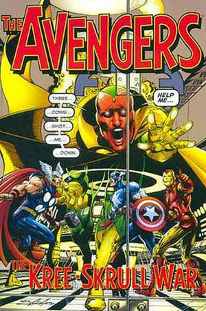 Kree–Skrull War - Cover of The Avengers: The Kree-Skrull War trade paperback (2000). Art by Neal Adams.