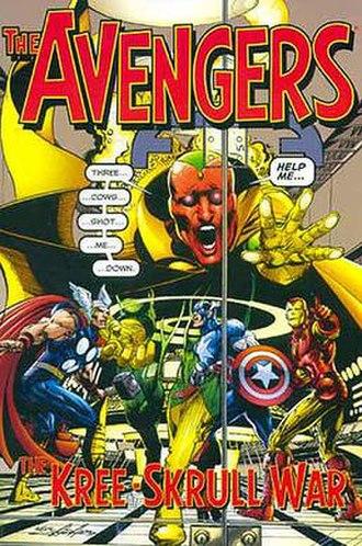 Kree–Skrull War - Cover of The Avengers: The Kree–Skrull War trade paperback (2000) Art by Neal Adams