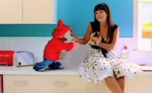 """Alfie (Lily Allen song) - Alfie trying to get back the water pipe from Allen in the music video for """"Alfie""""."""