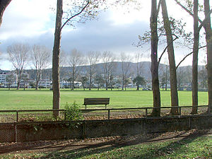 Logan Park, Dunedin - Logan Park, looking east, with the Otago Polytechnic visible in the distance to the left