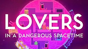 Lovers in a Dangerous Spacetime - Image: Lovers in a dangerous Spacetime logo