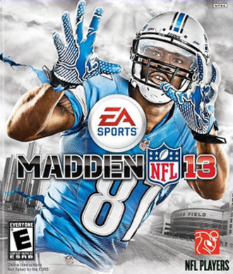 Madden NFL 13 - Cover art featuring Calvin Johnson Jr.