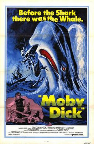 Moby Dick (1956 film) - 1976 theatrical re-release poster