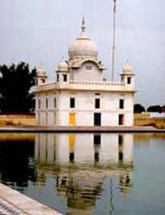 Jagraon -  Gurudwara Nanaksar, a gurdwara built as a memorial for of the saint, Nand Singh
