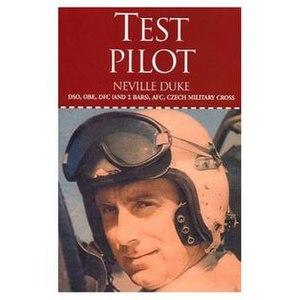 Neville Duke - Cover from Test Pilot, Neville Duke's autobiography