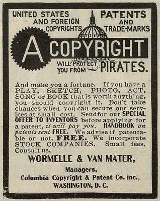 Newspaper advert copyright patent and trade mark
