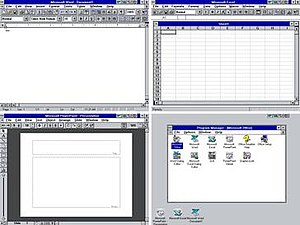 Microsoft Office - Image: Office 4.0 Suite