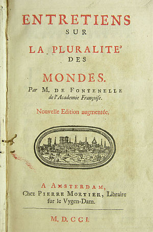 Conversations on the Plurality of Worlds - Front page of 1701 edition