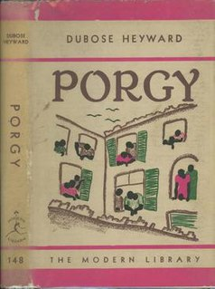 <i>Porgy</i> (novel) book by DuBose Heyward