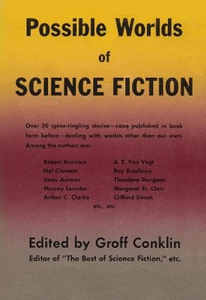 Possible Worlds of Science Fiction - dust cover of first edition