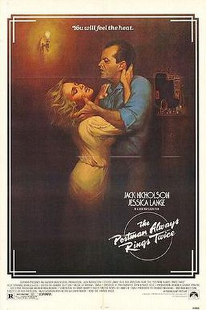 The Postman Always Rings Twice (1981 film) - Theatrical release poster by Rudy Obrero
