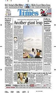 <i>Quad-City Times</i> newspaper in Davenport, Iowa