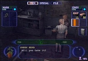 Resident Evil Outbreak - Players can give items to their AI partners and vice versa.