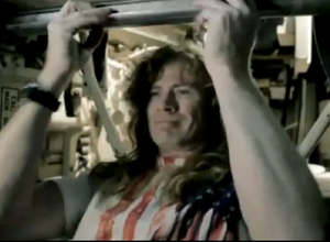 The Right to Go Insane - Dave Mustaine in the process of hijacking a tank.