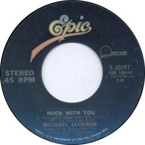 Rock with You - Image: Rock with You by Michael Jackson Side A US vinyl