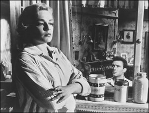 Simone Signoret - Simone Signoret with Laurence Harvey in Room at the Top; the film established her as an international actress.