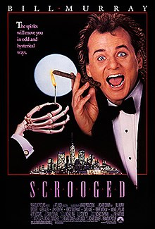 Scrooged; one of the must see best Christmas movies.