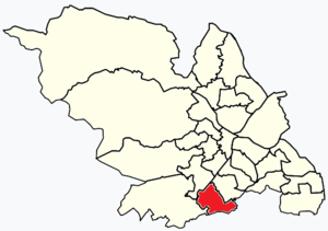 Beauchief and Greenhill - Image: Sheffield wards Beauchief and Greenhill