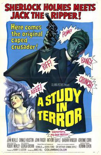 A Study in Terror - US release film poster