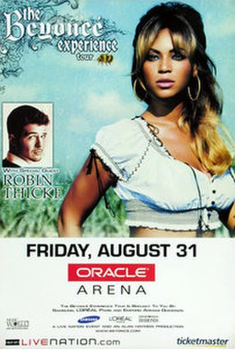 The Beyoncé Experience - Promotional poster for the Oracle Arena show