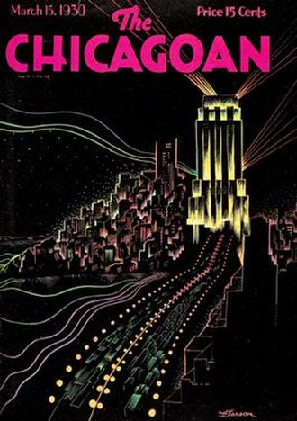 The Chicagoan - Cover of the Chicagoan magazine, March 15, 1930.