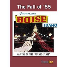 DVD cover showing the title of the film along with a portion of a vintage postcard showing the Idaho State Capitol building and the words Greetings from Boise, Idaho, capital of the potato state.