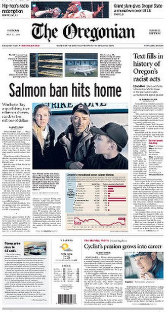 The Oregonian - Image: The Oregonian front page