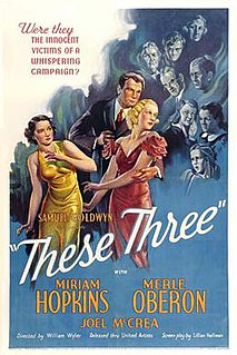 <i>These Three</i> 1936 American drama film directed by William Wyler