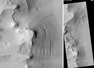 Tikhonravov (crater) - Image: Tikhonravov Basin Streaks