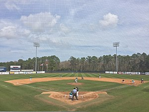 North Florida Ospreys baseball - The Ospreys at home versus UNC Wilmington in 2016.