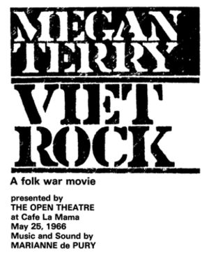 Viet Rock - Image: Viet Rock Poster Cafe La Mama 1966