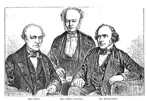 George Walker (chess player) - George Walker between William Lewis and Augustus Mongredien.