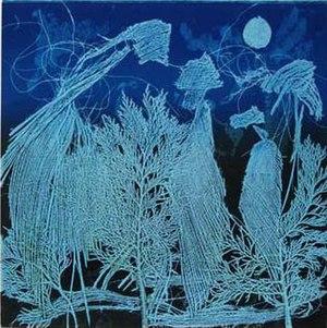 Chinwe Chukwuogo-Roy - Water Moon Monotype by Chinwe Chukwuogo-Roy