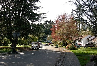 Wedgwood, Seattle - Wedgwood was the first Seattle neighborhood where considerable numbers of large trees were preserved when the neighborhood was built.