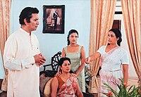 Ravindra, Malini, Paboda and Vasanthi in a scene