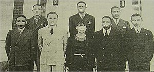 The 1930 Wiley College debate team. Wells is i...