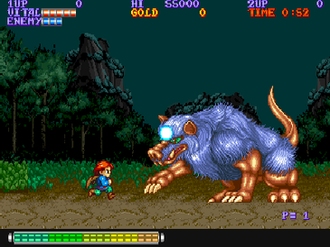Willow (arcade) - Willow battles the first level boss in the arcade game