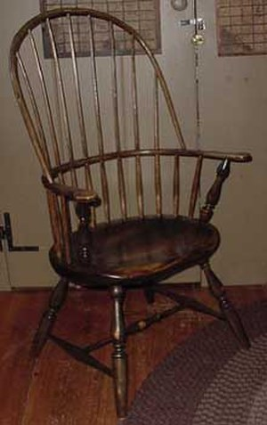 Windsor chair - Sack-back Windsor Armchair also known as a double Windsor