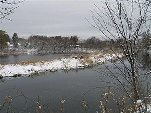 Dracut, Massachusetts - Beaver Brook along Lakeview Avenue