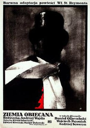The Promised Land (1975 film) - Polish promotional poster for the theatrical release of The Promised Land (Ziemia Obiecana)