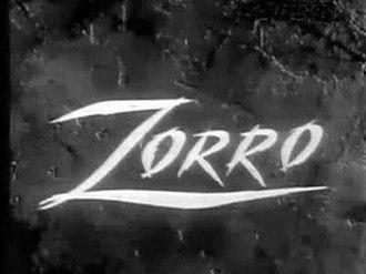 Zorro (1957 TV series) - Logo of Zorro