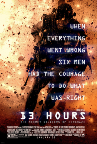 13 Hours: The Secret Soldiers of Benghazi - Theatrical release poster