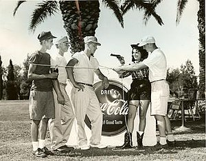 International Jaycee Junior Golf Tournament - Publicity photo from 13th International Jaycee Junior Golf Tournament held in Tucson, Arizona, in 1958.  Team Minnesota (L-R): Bob Balega, Tom Maas, Bruce Hall and Jon Hoffman.