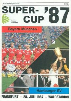 1987 DFB-Supercup - Image: 1987 DFB Supercup programme